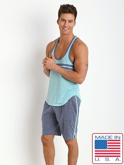 Pistol Pete Express Y-Back Tank Top Aqua Blue