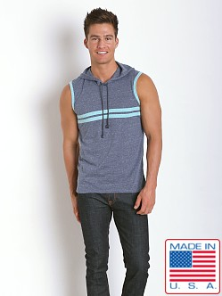 Pistol Pete Express Sleeveless Hoody Denim Blue