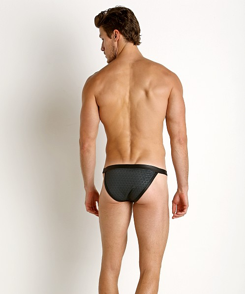 Gregg Homme Redline Rubber Look Sports Brief Black