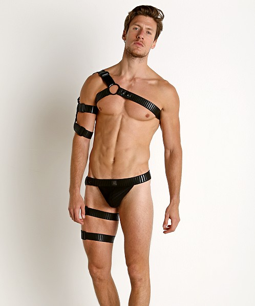 Gregg Homme Strap Y-Harness Top with Armband Black