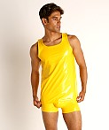 Modus Vivendi Shiny Vinyl Line Tank Top Yellow, view 2