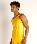Modus Vivendi Shiny Vinyl Line Tank Top Yellow, view 3