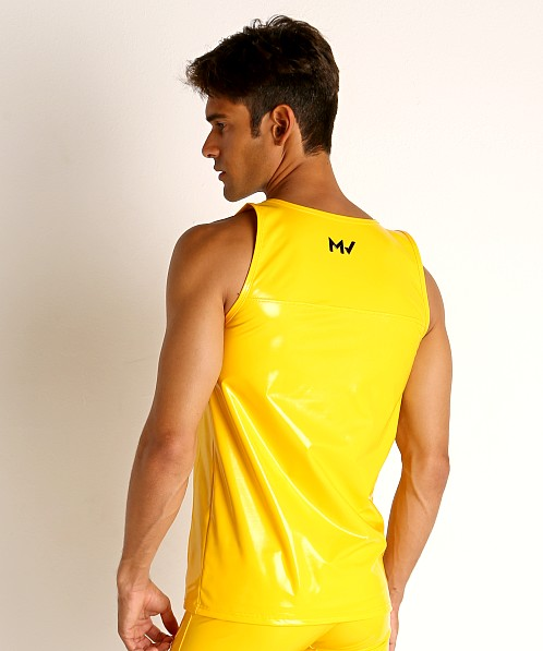 Modus Vivendi Shiny Vinyl Line Tank Top Yellow