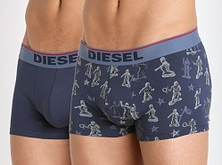 Diesel Toy Soldier Shawn Trunk 2-Pack Navy Print/Navy
