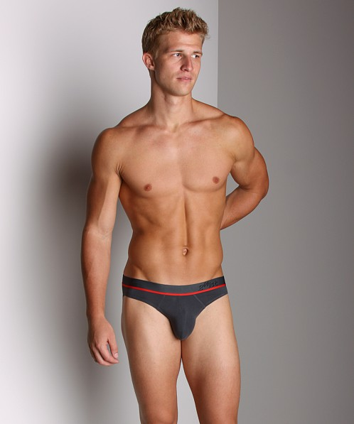 2xist Sliq Brief Charcoal