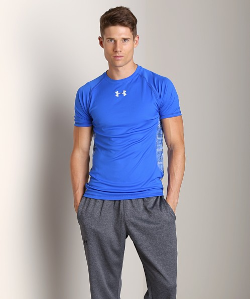 Under Armour HeatGear Flyweight Shortsleeve T Moonshadow