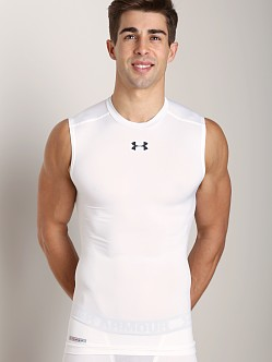 Under Armour Heatgear Sonic Compression Sleeveless T White