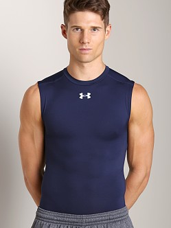 Under Armour Heatgear Sonic Compression Sleeveless T Navy