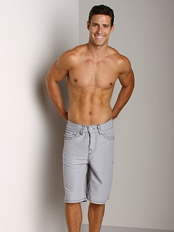 True Religion PCH Board Shorts Silver
