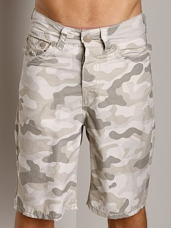 True Religion Camo PCH Board Shorts Light Desert
