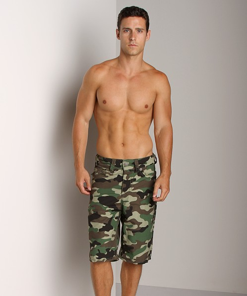 True Religion Camo PCH Board Shorts Woodland