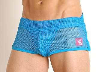 Model in turquoise Vaux VX1 Mesh See-Thru Jock Short