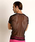 Vaux VX1 Mesh See-Thru T-Shirt Black, view 4