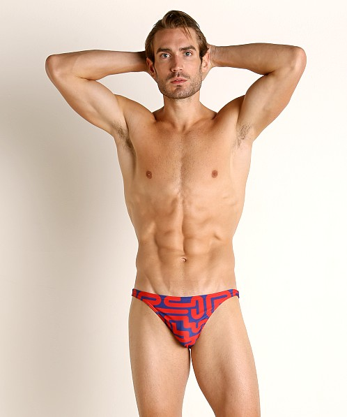 Modus Vivendi Labyrinth Super Low Cut Swim Brief Red