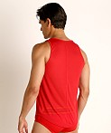 Modus Vivendi Peace Line Translucent Tank Top Red, view 4