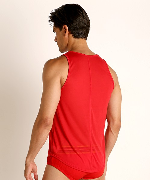 Modus Vivendi Peace Line Translucent Tank Top Red