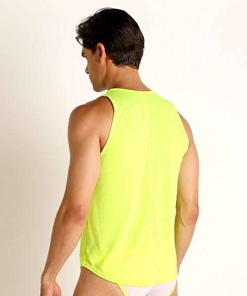 Modus Vivendi Peace Line Translucent Tank Top Lime