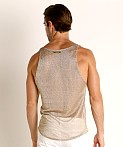 Modus Vivendi Armour Line Mesh Tank Top Gold, view 4