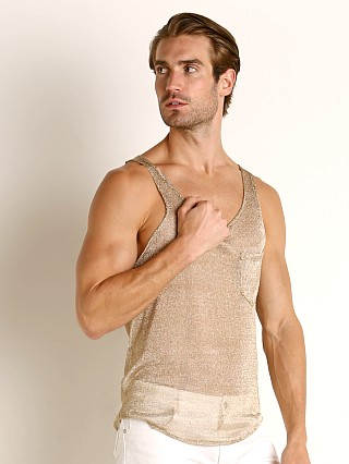 Complete the look: Modus Vivendi Armour Line Mesh Tank Top Gold