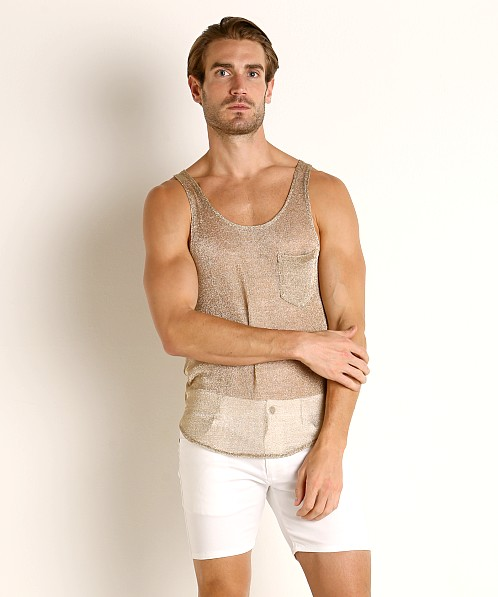 Modus Vivendi Armour Line Mesh Tank Top Gold