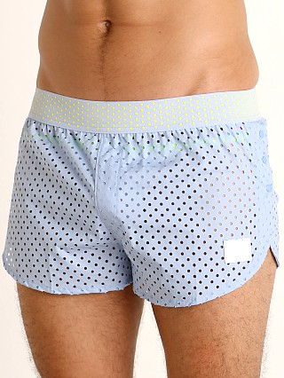 Modus Vivendi Labyrinth Side Snaps Mesh Jog Shorts Light Blue
