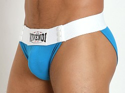 Modus Vivendi Navy Customizable Sumo Thong Brief Turquoise