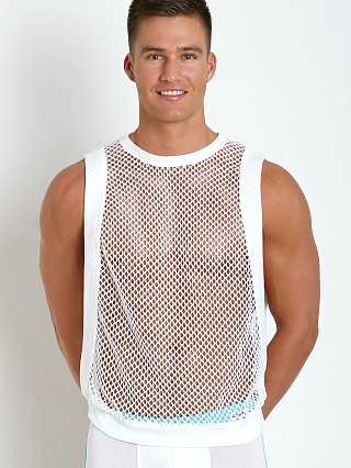 Complete the look: Modus Vivendi French Mesh Croise Muscle Tank White