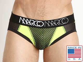 Marco Marco NY Basketball Mesh Brief Black/Neon Yellow