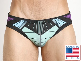 Marco Marco Laser Swim Brief Purple/Teal