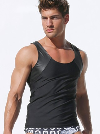You may also like: Rufskin Tom of Finland Nick Latex Panel Fitted Tank Top Black
