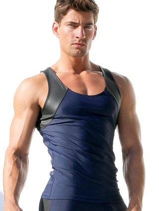 You may also like: Rufskin Tom of Finland Nick Latex Panel Fitted Tank Top Navy