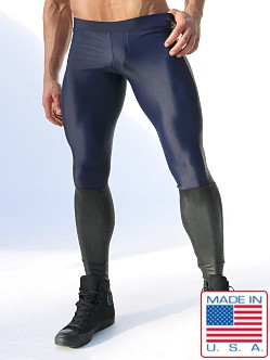 Rufskin Tom of Finland Thorpe Leggings with Latex Navy