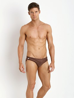 CA-RIO-CA Brief Cut Brazilian Sunga Brown