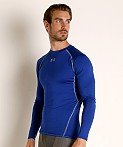 Under Armour Heatgear Longsleeve Compression Tee Royal, view 3
