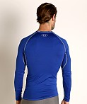 Under Armour Heatgear Longsleeve Compression Tee Royal, view 4