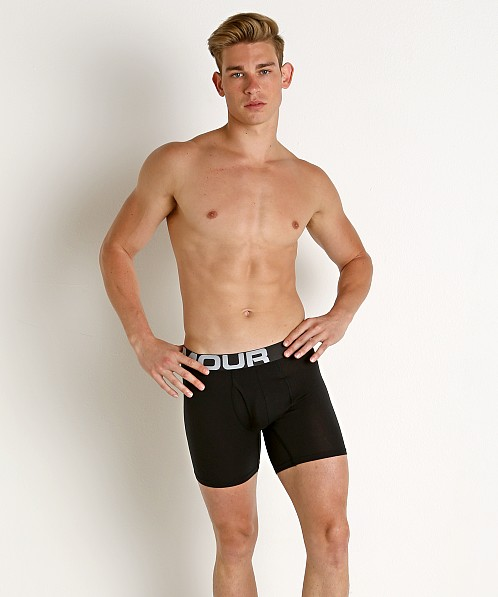 "Under Armour Charged Cotton 6"" Boxerjock 3-Pack Black"
