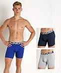 "Under Armour Charged Cotton 6"" Boxerjock 3-Pack Royal, view 1"