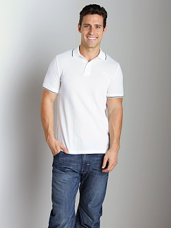 G-Star RCT Stripe Slim Polo Shirt White