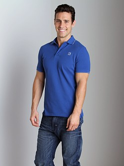 G-Star RCT Stripe Slim Polo Shirt True Blue