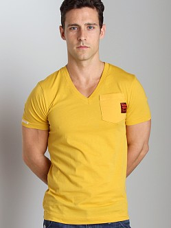 G-Star ART Diamo Pocket V-Neck Shirt Field Yellow