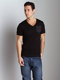 G-Star ART Diamo Pocket V-Neck Shirt Black