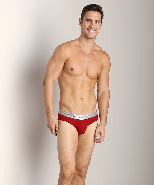 Emporio Armani X-Mas 3D Stretch Cotton Brief Carmine
