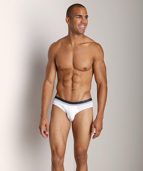 Emporio Armani Melange Insert Stretch Cotton Brief White