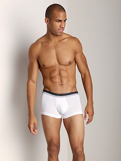 Emporio Armani Melange Insert Stretch Cotton Trunk White