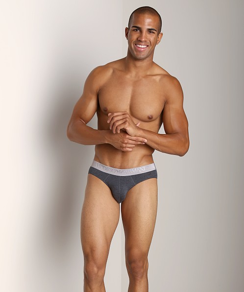 Emporio Armani Cotton Modal Brief Dark Grey