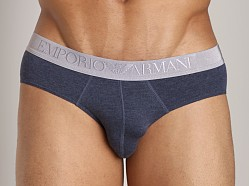 Emporio Armani Cotton Modal Brief Blue