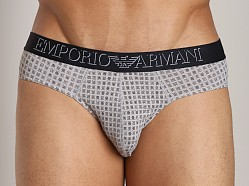 Emporio Armani Printed Fantasy Microfiber Brief Steel