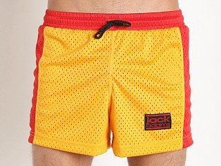 Jack Adams Air Mesh Gym Short Gold/Red