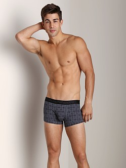 Emporio Armani Printed Fantasy Stretch Cotton Trunk Smoke
