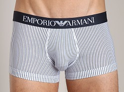 Emporio Armani Printed Fantasy Stretch Cotton Trunk White